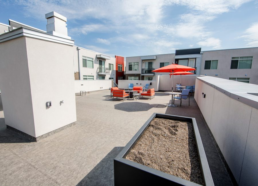 Open Rooftop Patio Inner Courtyard