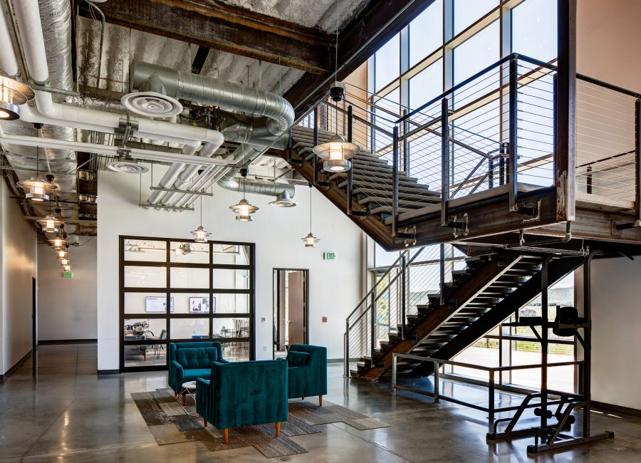 Skullcandy Glass Walls and Staircase
