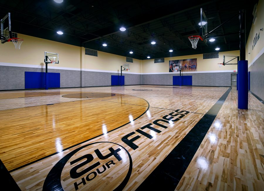 24 Hour Fitness Basketball Court Design in California