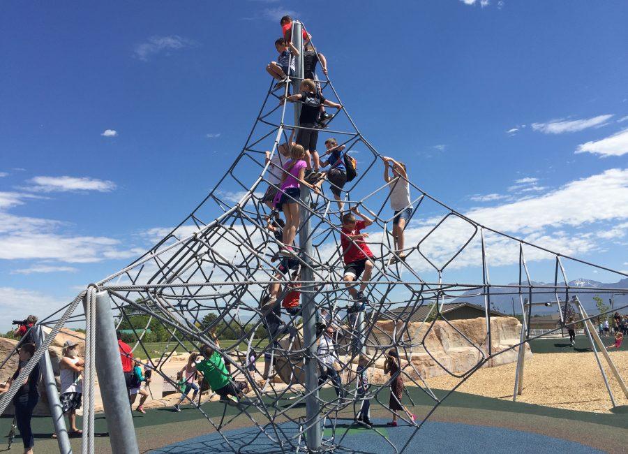 Children's Park Climbing Structure