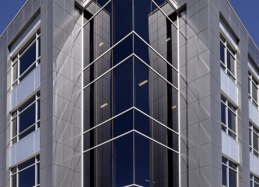 Exterior of EMI building
