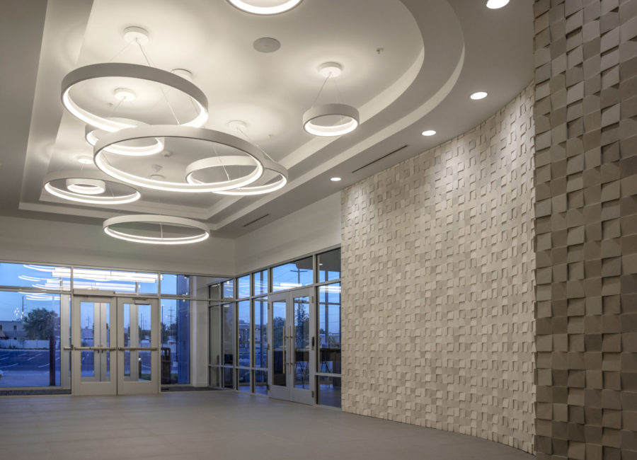 Interior Design in building lobby