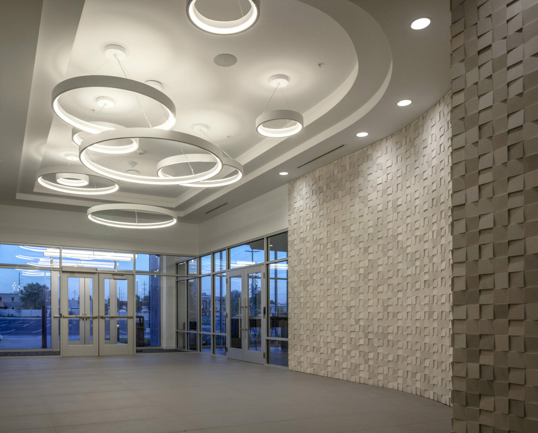 Interior Design in building lobby