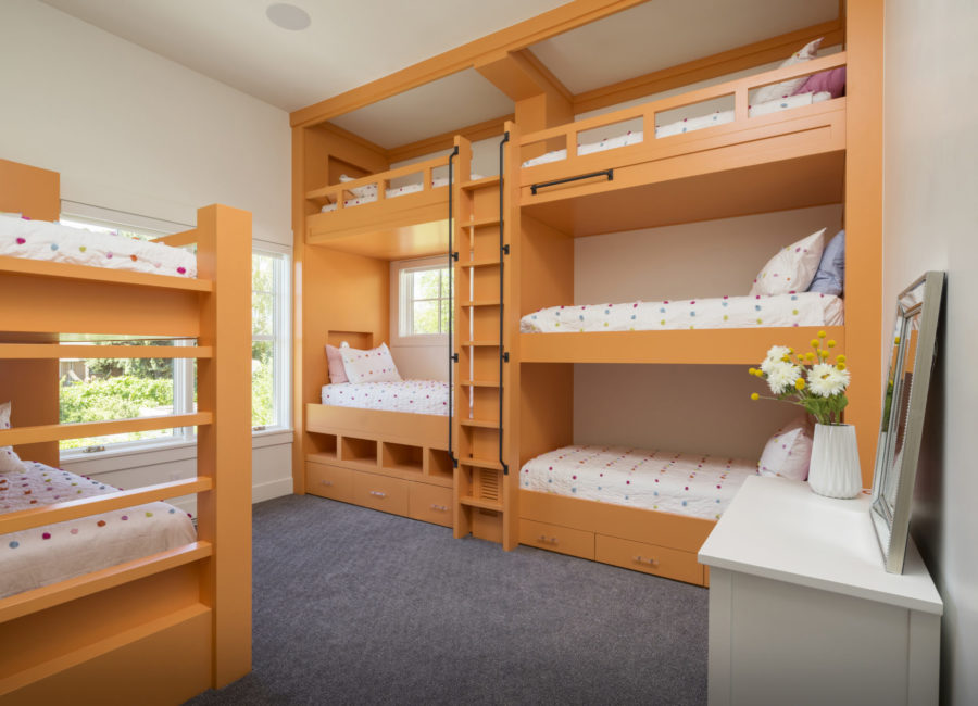 Bunk Beds in Home Bedroom