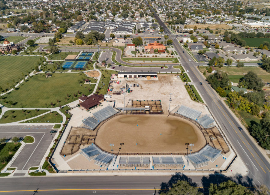 Aerial Photo of Landscape Architecture in Riverton City Park