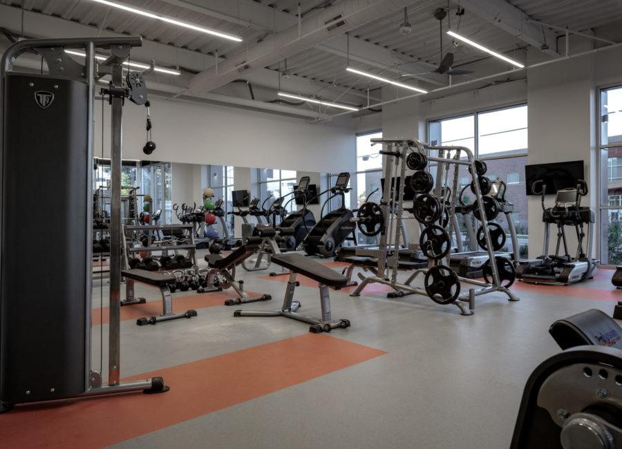 Weight Room Interior Architecture