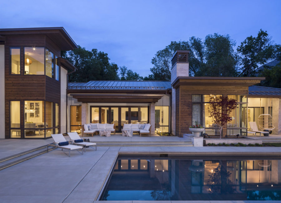 custom home with a pool - residential architectural design