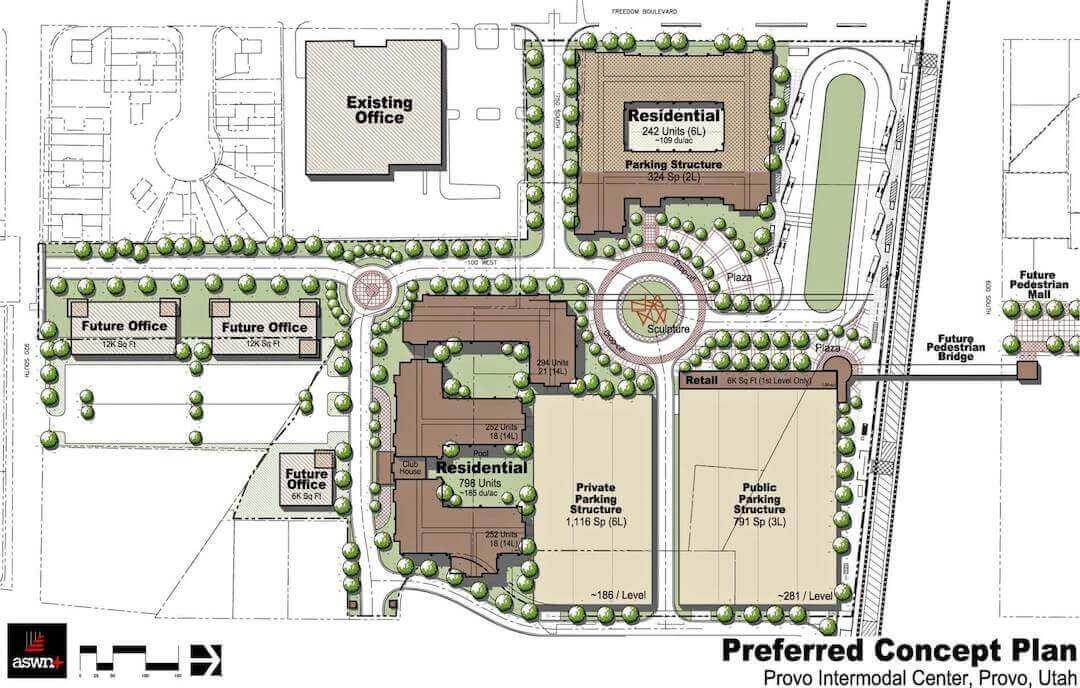 Provo Intermodal Center Land Planning
