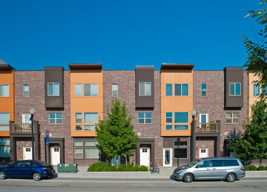 front view of Utah townhomes