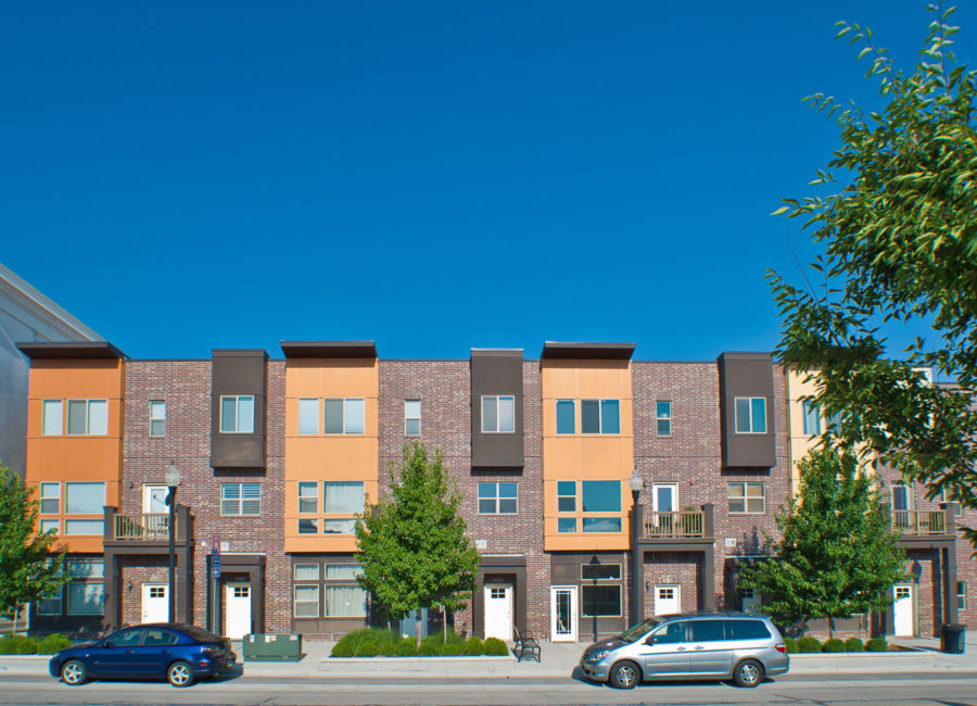 Birkhill townhomes designed by Think Architecture