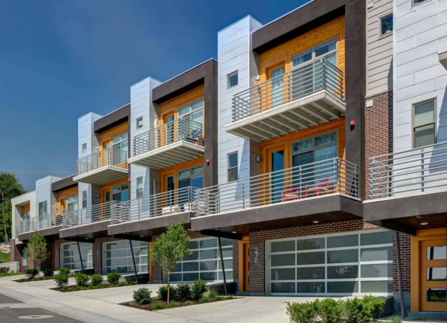 Beautiful modern townhomes designed by Think Architecture