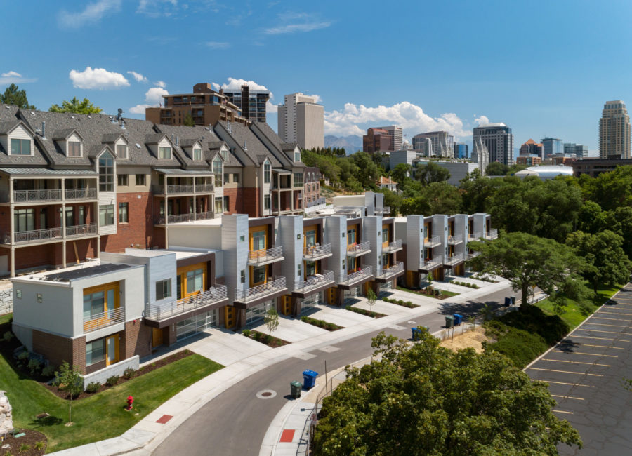 Modern townhomes in Salt Lake City designed by Think Architecture