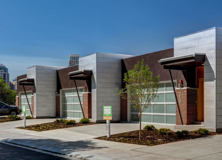 Urban townhomes designed by Think Architecture