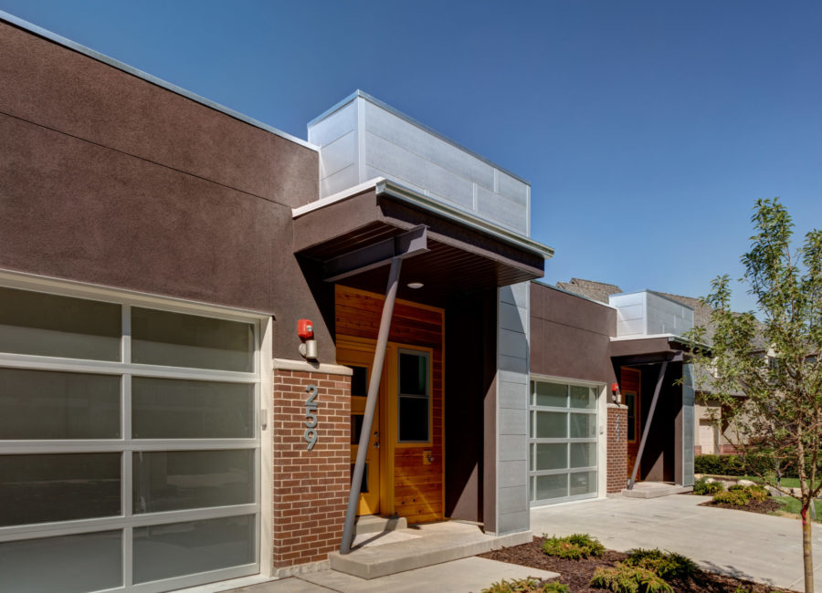 Front of modern townhome - landscape architecture by Think