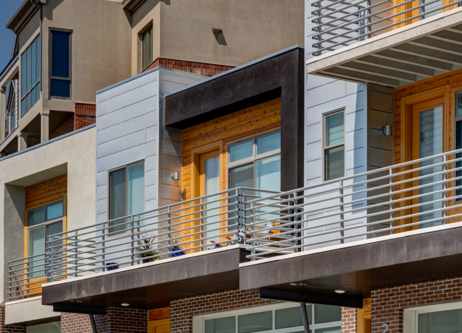Balcony on townhome in Salt Lake