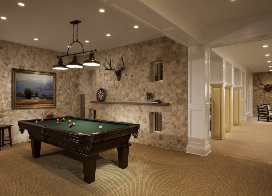 Custom interior designed den by Think Architecture
