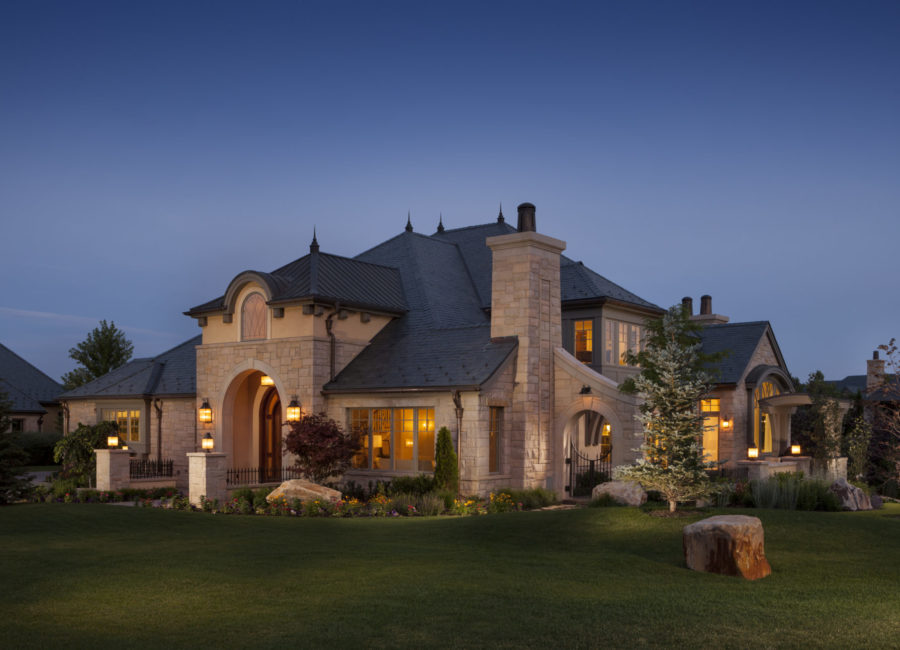 Front exterior of custom built home