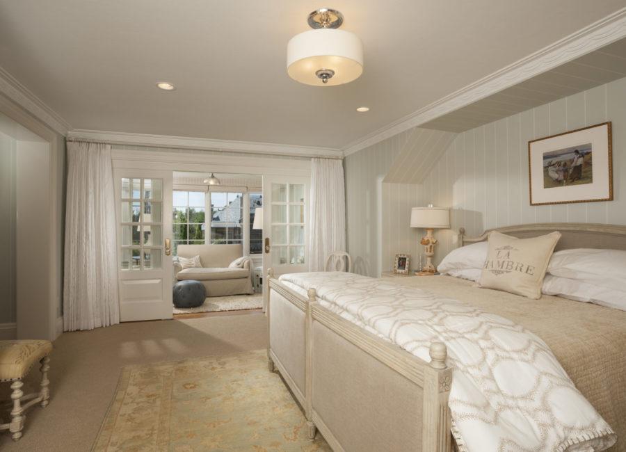 large guest room in custom built Utah home