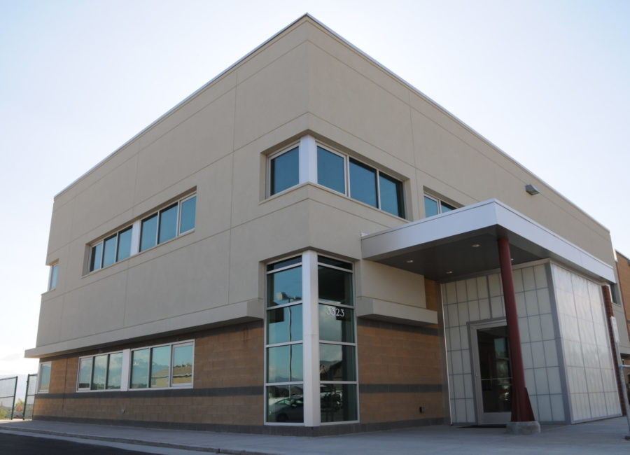 Front view of Riverton Public Works building